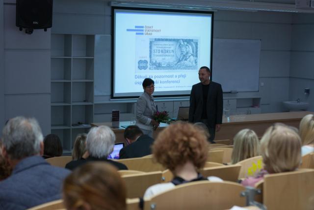 prof. Ing. Iva Rittschelová, CSc, a Michal Koleček, foto Jáchym Myslivec