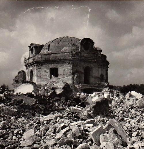 Špitální kaple Duchcov v roce 1958, foto archiv