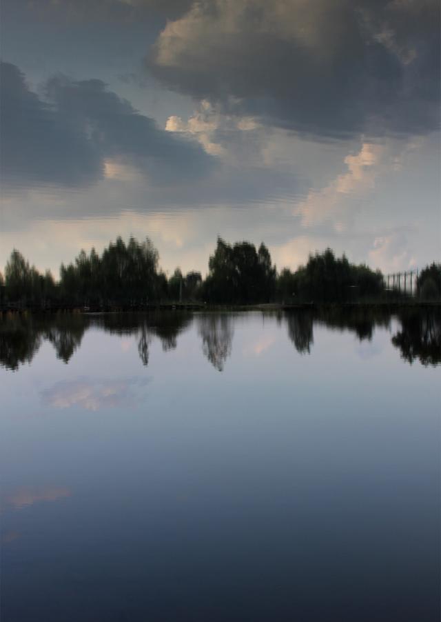 Þórunn Eymundardóttir, The Sky Over Libkovice. Postcard multiple, front side, 2015.