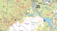 mapa okolí Jezeří